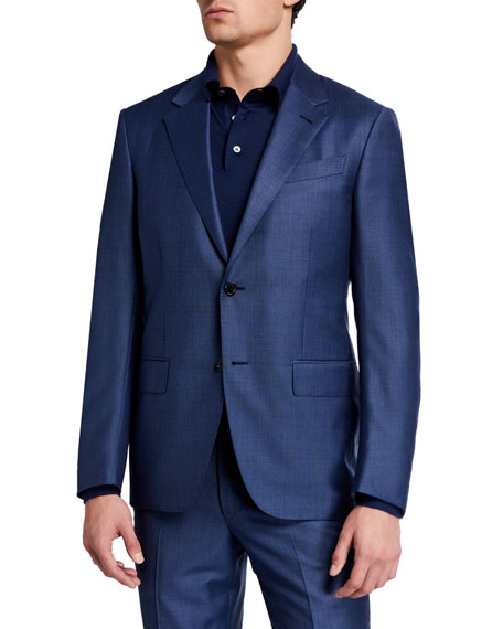 Ermenegildo Zegna Men's Solid Regular-Fit Wool Two-Piece Suit