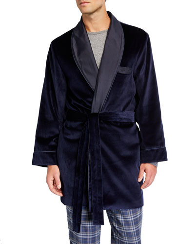 Men's Smoking Jacket Velvet Robe