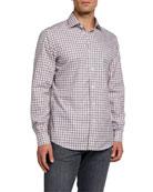 Ermenegildo Zegna Men's Check Regular-Fit Sport Shirt