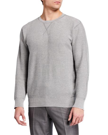 Ermenegildo Zegna Men's Solid Raglan Crewneck Sweater