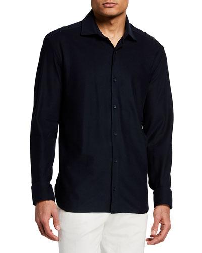 Men's Solid Jersey Sport Shirt