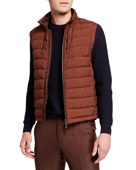 Ermenegildo Zegna Men's Microfiber Zip-Front Vest