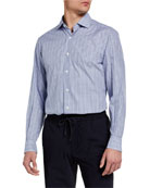 Ermenegildo Zegna Men's Check Cotton Sport Shirt