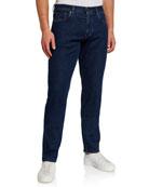 Ermenegildo Zegna Men's Medium-Wash Super-Soft Jeans