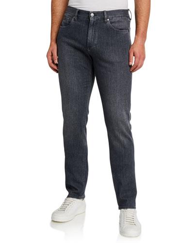 Men's Stone-Wash 5-Pocket Trim-Fit Jeans