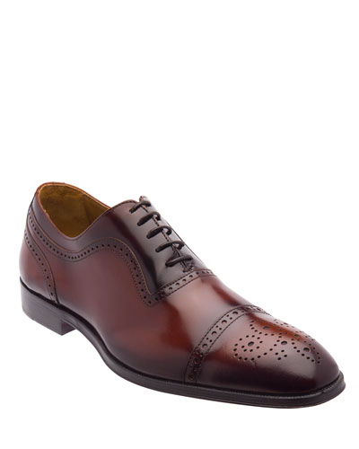 Men's Ancona Brogue Leather Oxford Shoes