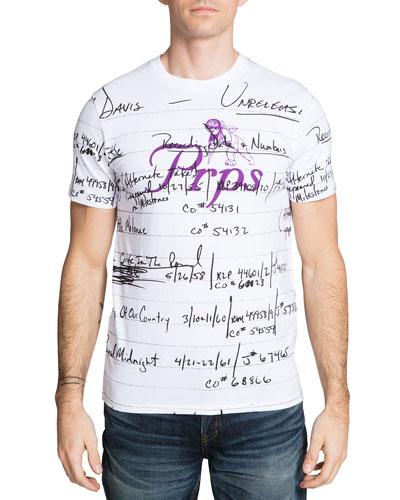 Men's Miles Davis Script T-Shirt