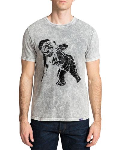 Men's Flocked Cherub Graphic T-Shirt
