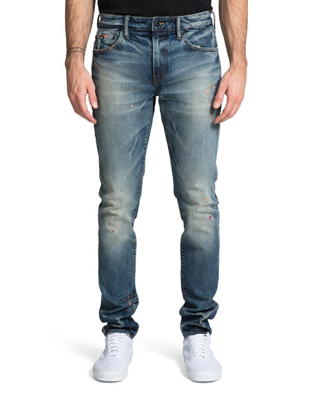 PRPS Men's Windsor Skinny Jeans with Paint Spots