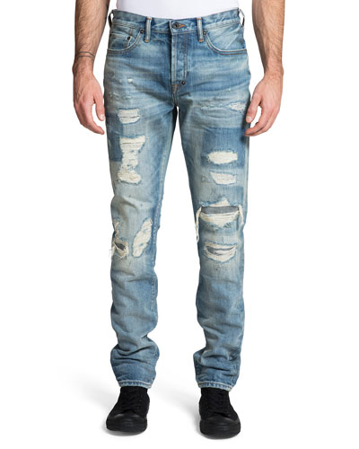 Men's Le Sabre Rip/Repair Slim Jeans