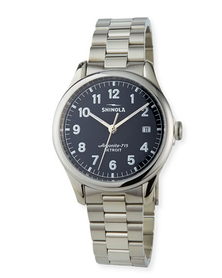 Shinola 38mm Vinton Stainless Steel Bracelet Watch