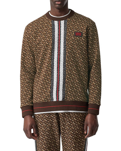 Men's Marlowe TB-Monogram Sweatshirt with Stripes