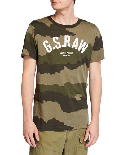 Men's Camo-Print Typographic T-Shirt