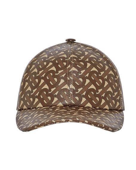 Burberry Men's TB-Monogram Coated Cotton Baseball Hat