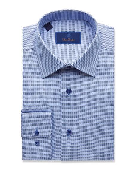 David Donahue Men's Regular-Fit Tonal-Tic Dress Shirt
