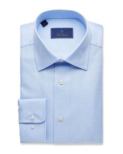 Men's Regular-Fit Royal Oxford Dress Shirt, Sky