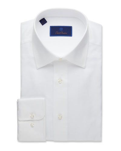 Men's Regular-Fit Royal Oxford Dress Shirt, White