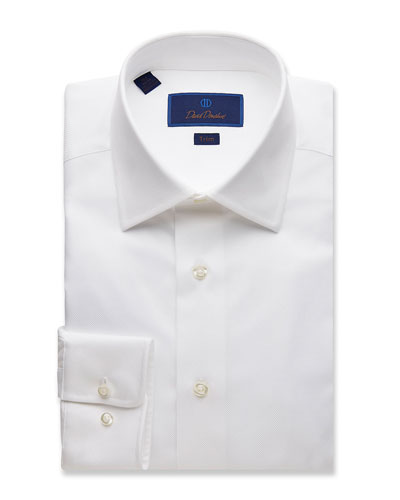Men's Trim-Fit Royal Oxford Dress Shirt