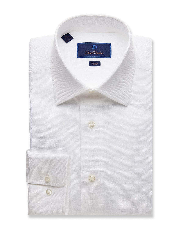 Men's Trim-Fit Royal Oxford Dress Shirt