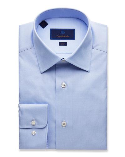 Men's Slim-Fit Micro Dobby Dress Shirt