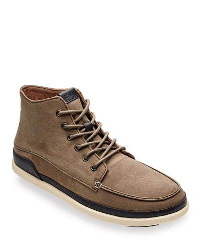 Men's Nalukai Kapa Waxed Canvas Boots w/ Leather Accents
