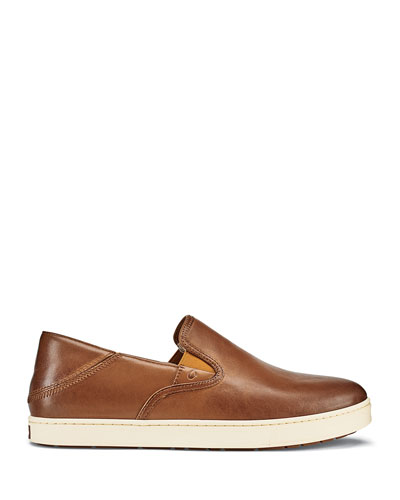 Men's Kahu 'Ili Waxed Nubuck Leather Slip-On Sneakers