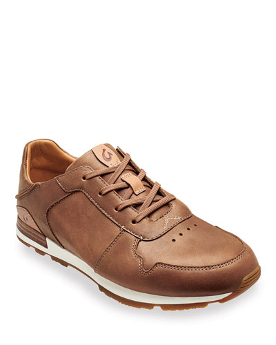 Men's Huaka'i Li Waxed Nubuck Leather Sneakers