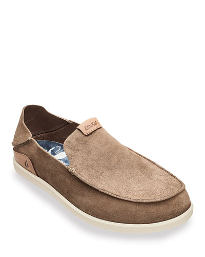 Men's Nalukai Kala Double-Sided Leather Slip-On Shoes