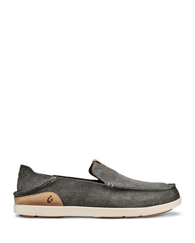 Men's Nalukai Kala Double-Sided Leather Slip-On Shoes
