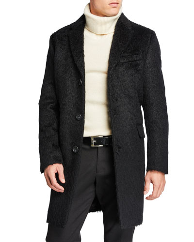 Men's Mohair Wool Top Coat