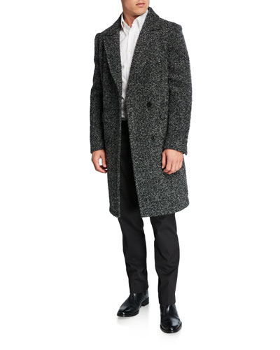 Men's Double-Breasted Wool Top Coat