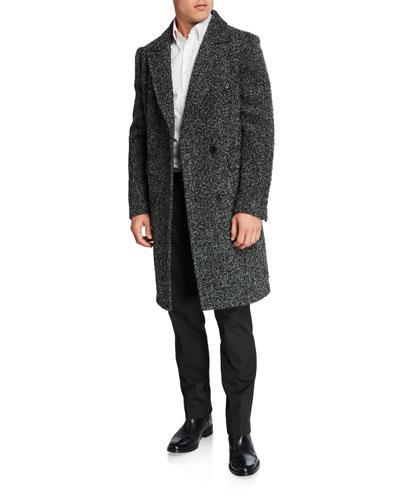 Men's Double-Breasted Wool Top Coat