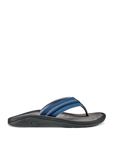 Men's Hokua Faux-Leather Flip-Flop Sandals