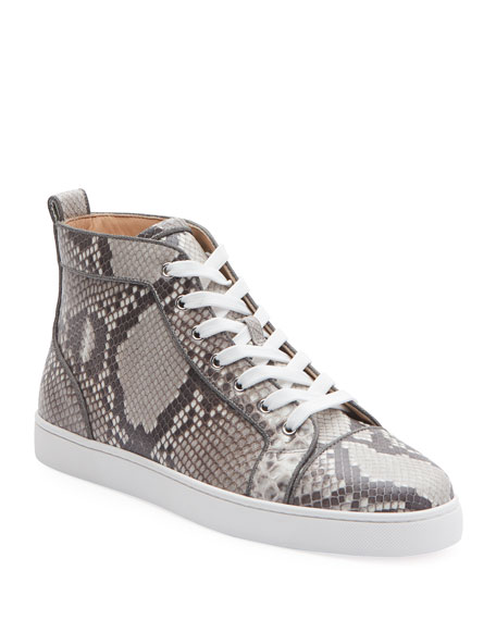 Christian Louboutin Men's Louis Orlato Python Glow-in-the-Dark Sneakers