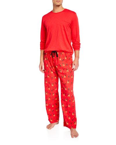 Men's Oh Deer Pajama Set