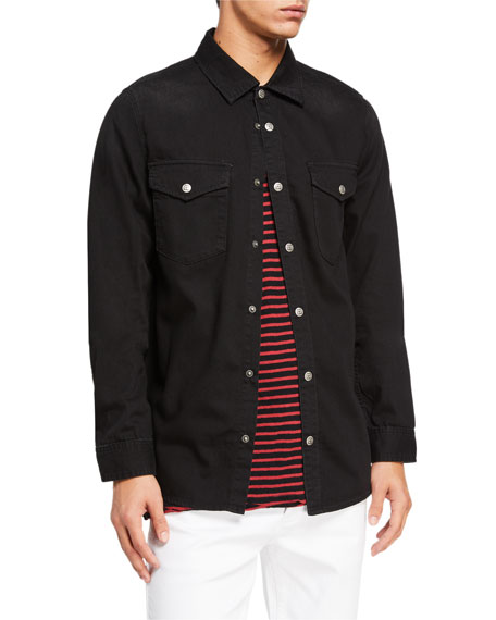 Ksubi Men's Blackmail Denim Sport Shirt