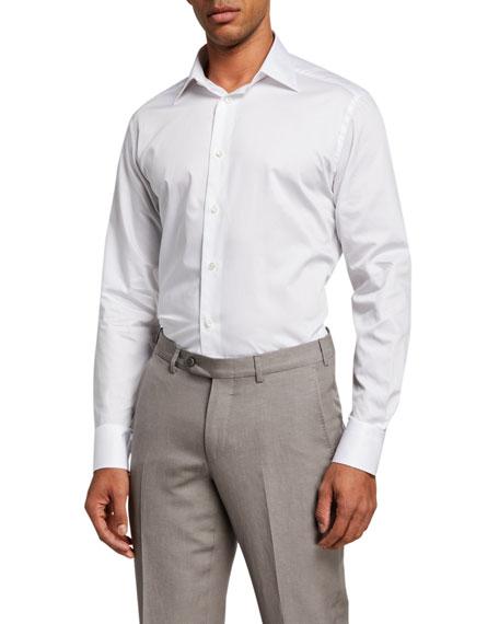 Ermenegildo Zegna Men's Cento Fili Cotton Dress Shirt