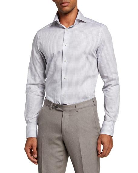 Ermenegildo Zegna Men's Check Trim-Fit Sport Shirt