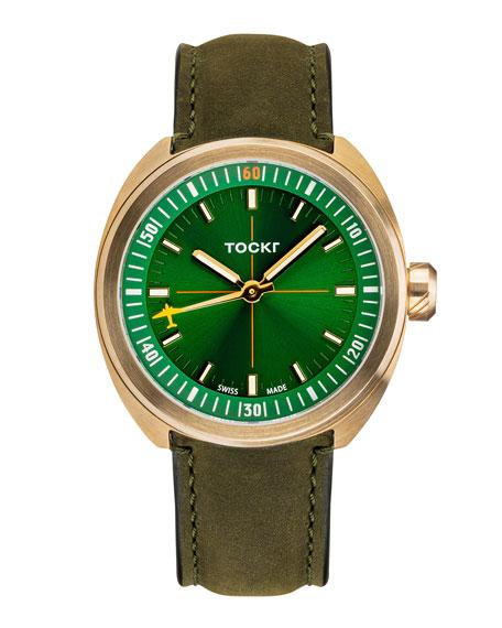 Tockr Watches Men's Skytrain Series Bronze Watch