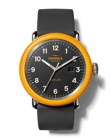 Shinola The No. 2 Detrola 43mm Silicone Watch