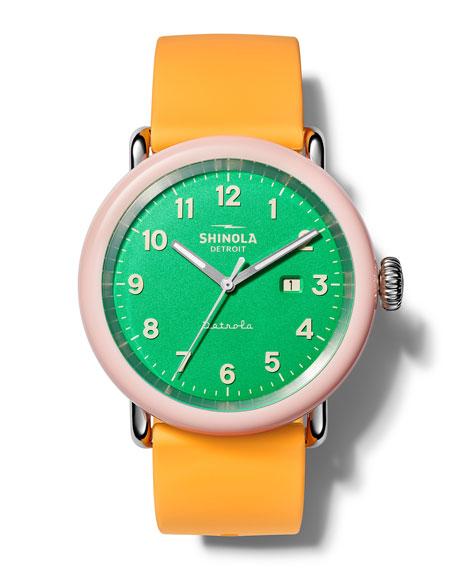 Shinola Detrola The Islander 43mm Silicone Watch