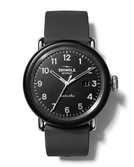 Shinola Detrola The Model D 43mm Silicone Watch