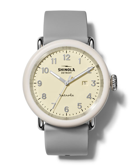 Shinola Detrola The Pine Knob 43mm Silicone Watch