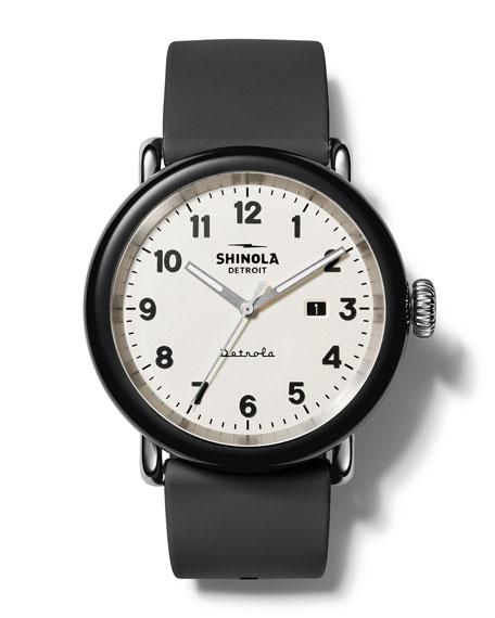 Shinola Detrola The Penguin 43mm Silicone Watch