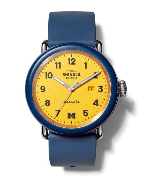 Shinola Detrola The Wolverine 43mm Silicone Watch