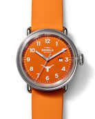Shinola Detrola UT Longhorns 43mm Silicone Watch