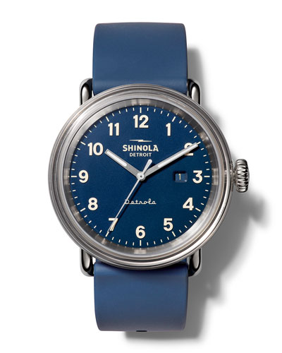 Men's Detrola The Daily Wear 43mm Silicone Watch