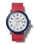 Shinola Men's Detrola The Ace 43mm Silicone Watch