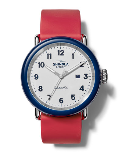 Detrola The Ace 43mm Silicone Watch