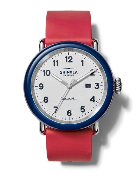 Shinola Detrola The Ace 43mm Silicone Watch